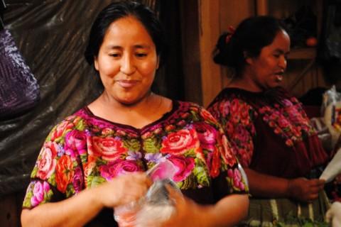 Al mercato di Chichicastenango verdure