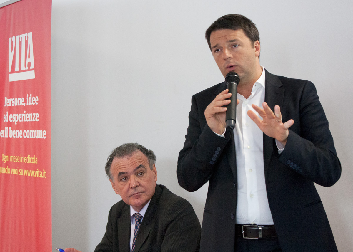 """, Matteo Renzi a """"Vita"""" per illustrare la riforma del Terzo settore"""