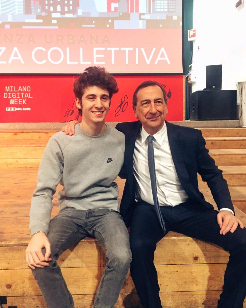 foto_Sindaco di Milano, Sala con il creator Favij