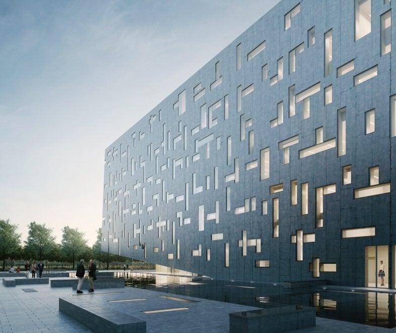 , Lavori in corso per la nuova sede di Cap Holding in via Rimini