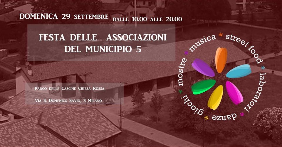 , Al Parco Chiesa rossa va in  scena la terza edizione della Festa delle Associazioni del Municipio 5