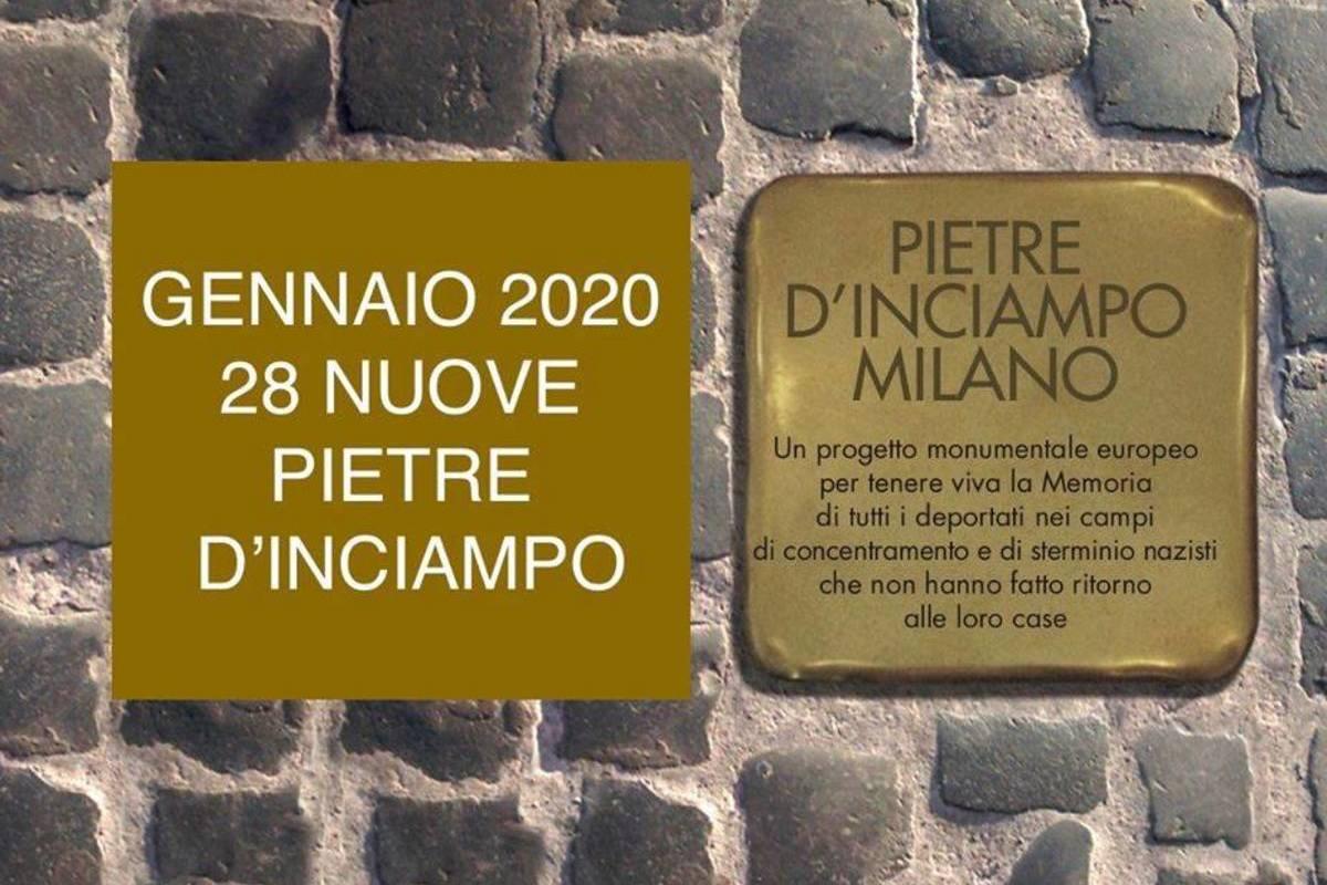 , 28 nuove Pietre d'Inciampo: le date e le vie cittadine in cui saranno posate le formelle