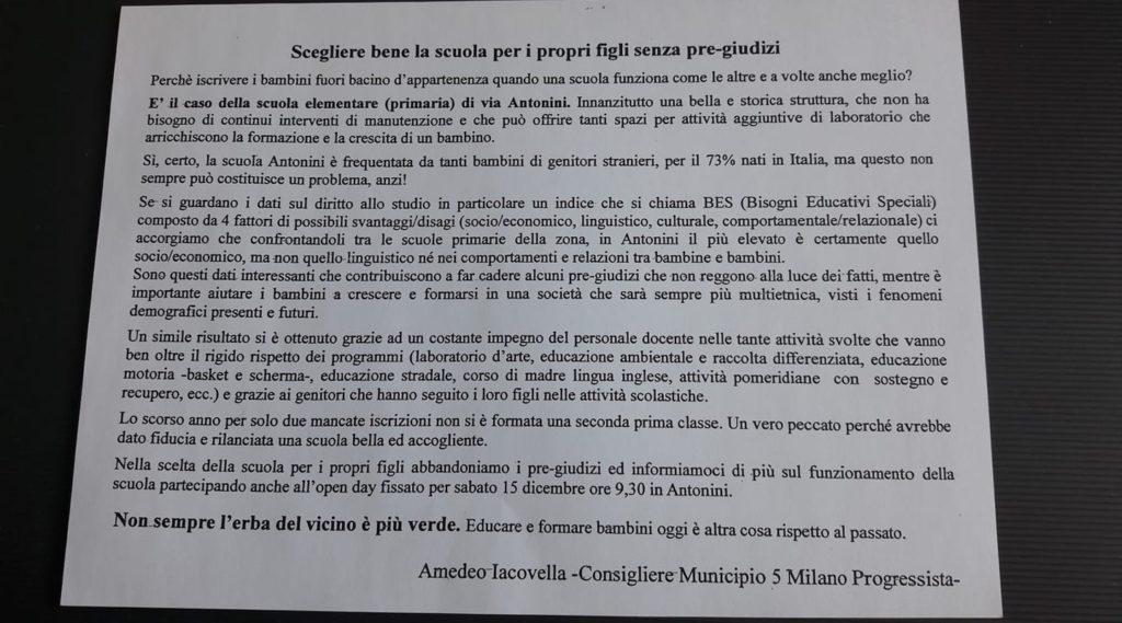 , Le buone notizie a Milano sud: premiato il lavoro della primaria di via Antonini e della media di via Heine