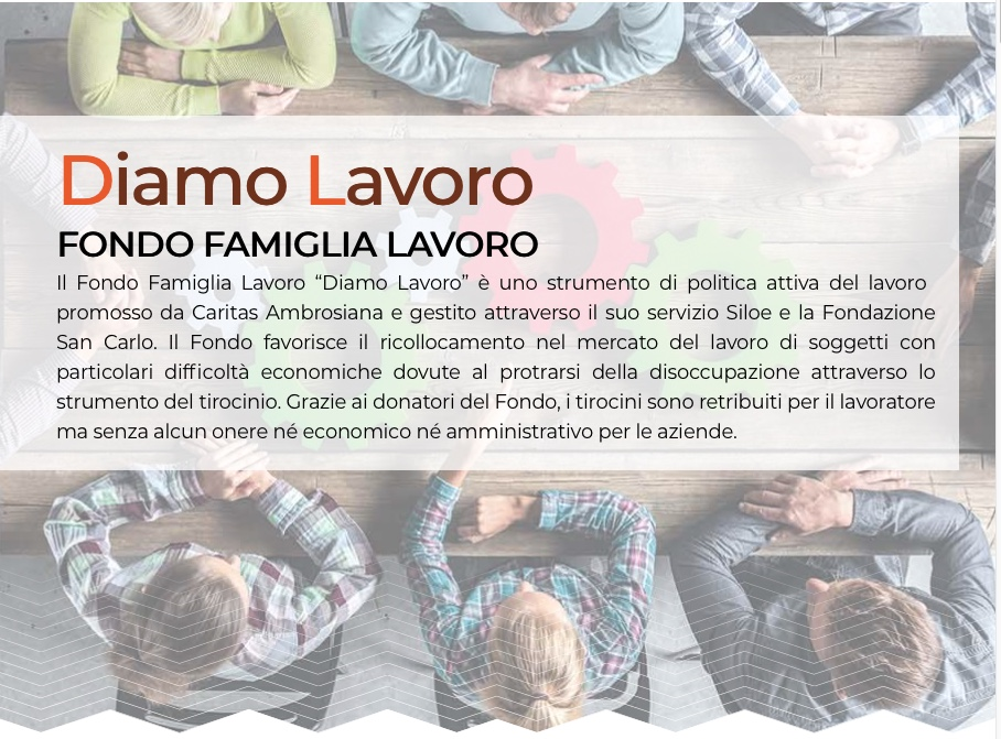 """, Nasce """"Fondo San Giuseppe"""": tirocini retribuiti per disoccupati grazie al Fondo Famiglia Lavoro e Comune di Milano. Come fare le domande e le donazioni"""