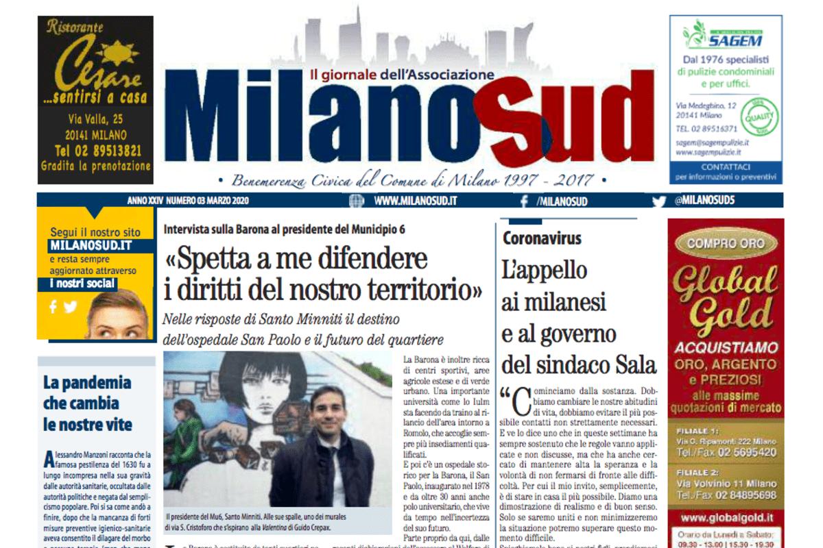 , In distribuzione il numero di novembre di Milanosud